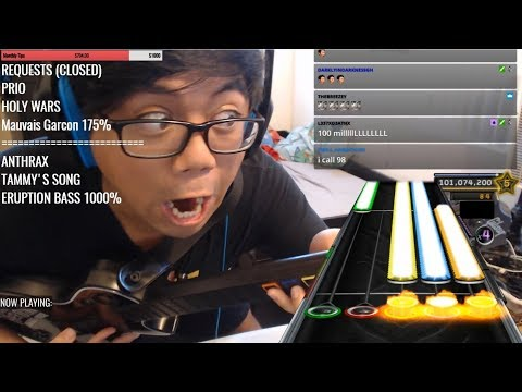 40 minute impossible guitar hero song
