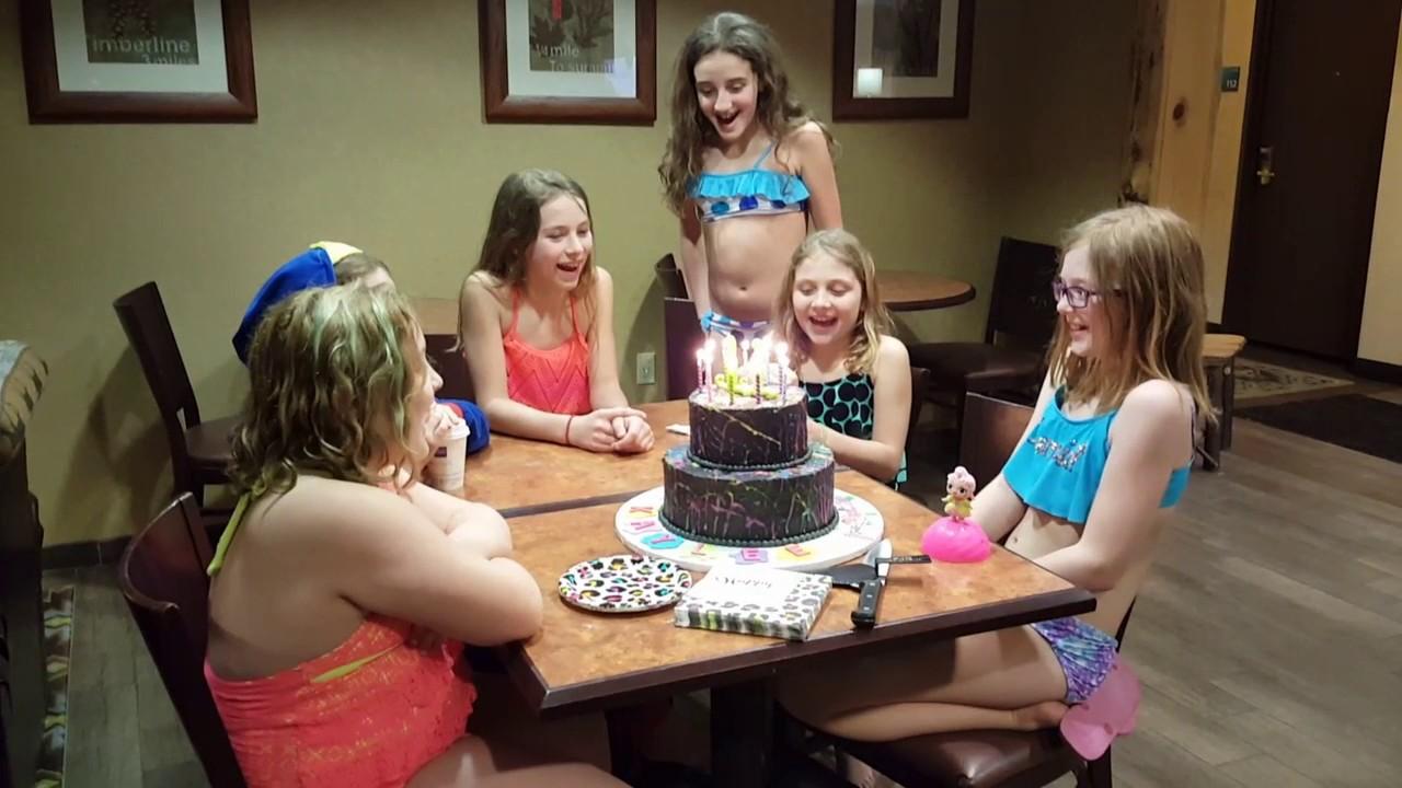 Kaylees 11th Birthday Swimsleepover Party 3 11 17 Youtube