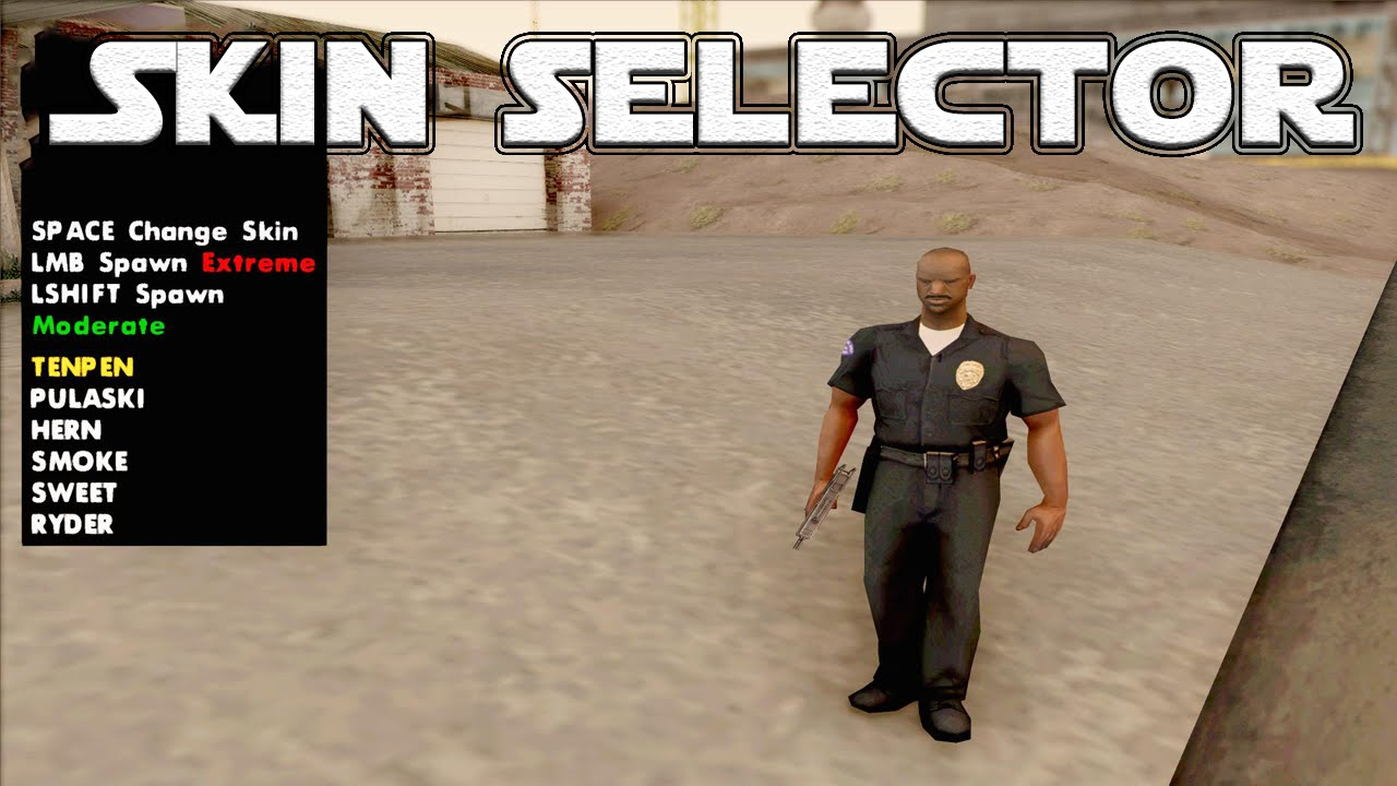 Gta san andreas skin selector (unconsered: includes naked.