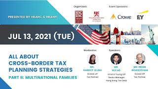【Program】Multinational Families Tax at All About Cross-Border Tax Planning Strategies | Jul 13, 2021