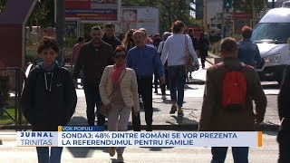 SONDAJ: 48% dintre români se vor prezenta la Referendumul pentru Familie