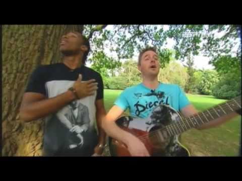 Chris Cohen teaches Didier Drogba the guitar