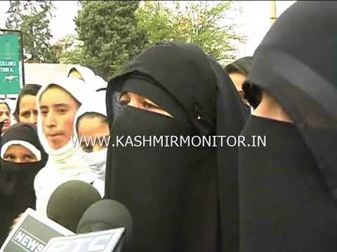 Women's College Srinagar students hold protests