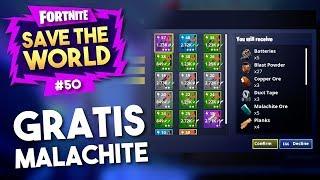 GRATIS MALACHITE KRIJGEN?! - Fortnite Save The World #50