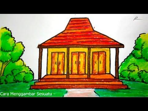 Cara Menggambar Rumah Adat Jawa Joglo