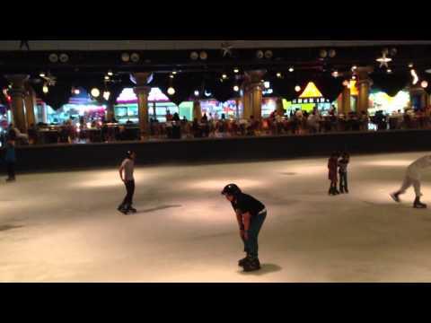 ICE SKATING AT AL SHALLAL THEME PARK, JEDDAH SAUDI ARABIA