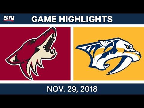 NHL Highlights   Coyotes vs. Predators - Nov 29, 2018