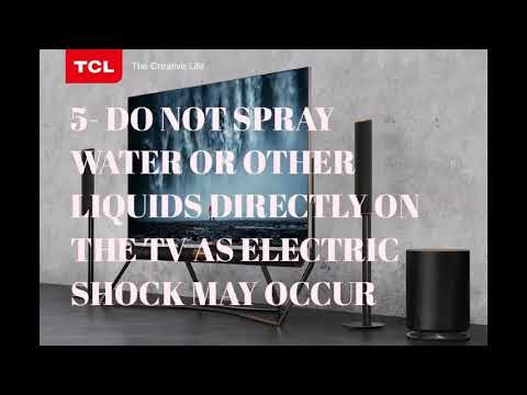 HOW TO CLEAN YOUR  TCL TV SCREEN PROPERLY