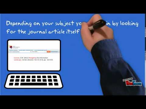 How to Find an Electronic Journal Article Part 1