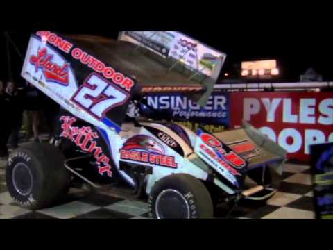 Port Royal Speedway 410 and 305 Sprint Car Highlights 4-16-16