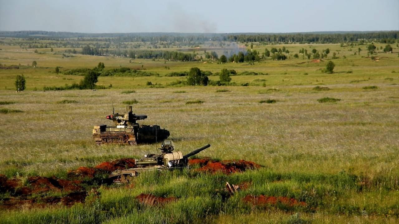 Война машин: первые учения с применением БМПТ «Терминатор»