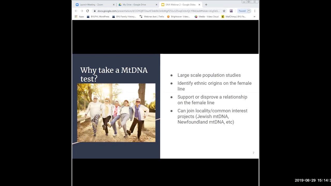 DNA Testing: Mt DNA and Y DNA - Sarah Stoddard