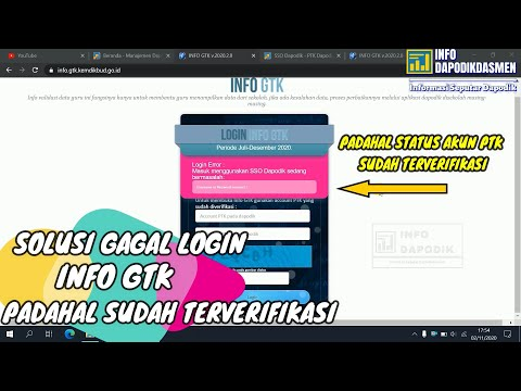 Login Error Info Gtk V 2020 2 0 Tidak Bisa Login Info Gtk Padahal User Password Sudah Benar Youtube