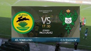 """Video Resumen · ATLÉTICO TOMELLOSO - C. D. TOLEDO """"B"""" #J10 #TerceraDivisiónGXVIII"""