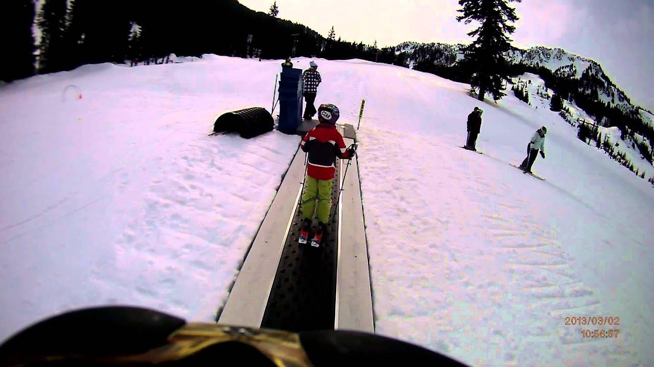 Dixon Learning Skiing At Stevens Pass Riding The Magic