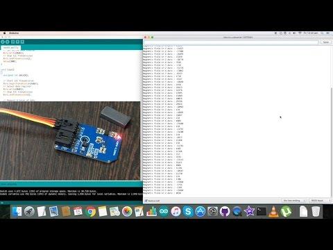 Arduino Nano -  MAG3110 Magnetometer Electronic Compass Sensor Tutorial