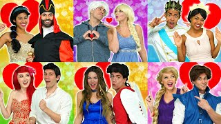 VALENTINES DAY MAGIC DANCE WITH FROZEN 2 ELSA, ARIEL, BELLE, MULAN, RAPUNZEL, JASMINE & TIANA.