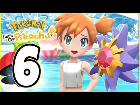 Pokémon Let's Go Pikachu Walkthrough Part 6 Misty Battle Cerulean Gym! (co-op gameplay)