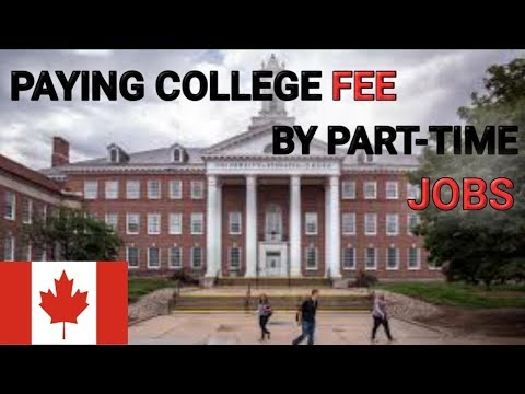How to pay college fees in canada as a student doing part time jobs. must see!!! punjabi vlogger