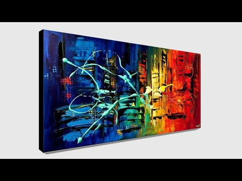Abstract Painting Wall Art Abstract Print Canvas Art Print by Osnat PRINT on Canvas