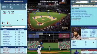 Baseball Mogul: Episode 1: Rangers vs Indians: Game 1