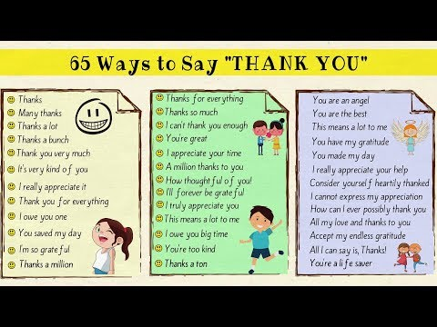 "65 New Ways to Say ""Thank You"" in English! Thanks a Million!!! Mp3"