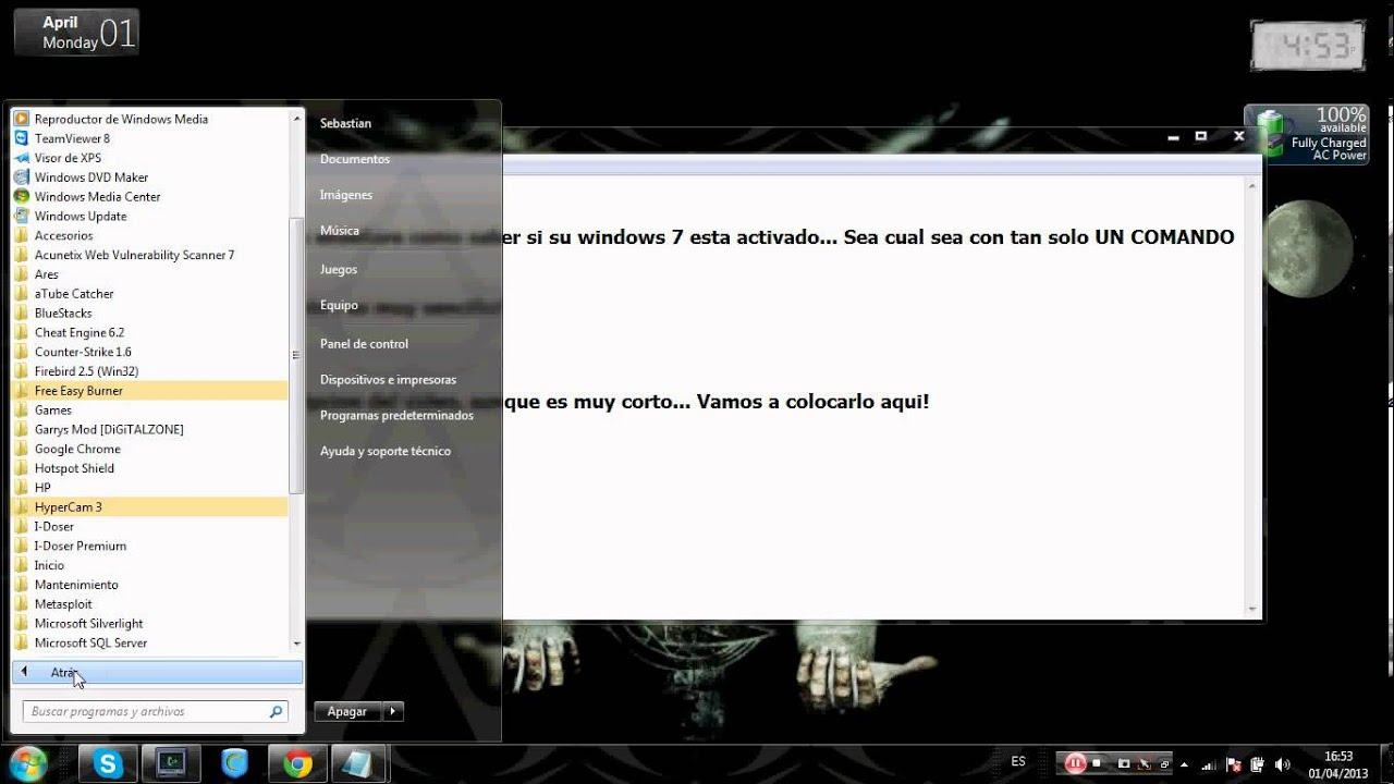 Como Saber Si Su Windows 7 Esta Activado [Tutorial]