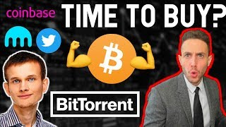 "Time to BUY? Ethereum founder trashes ""high TPS"" blockchains? Kraken worth $4B? EOS ETH BTC TRX UFR"