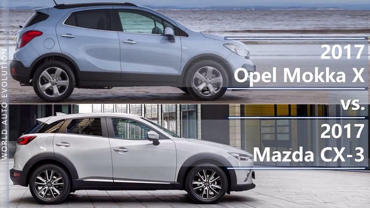 Vauxhall Mokka Dimensions >> 2017 Opel Mokka X Vs 2017 Mazda Cx 3 Technical Comparison