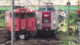 やくもと普通列車が並走!? 米子駅(2018/7/28)