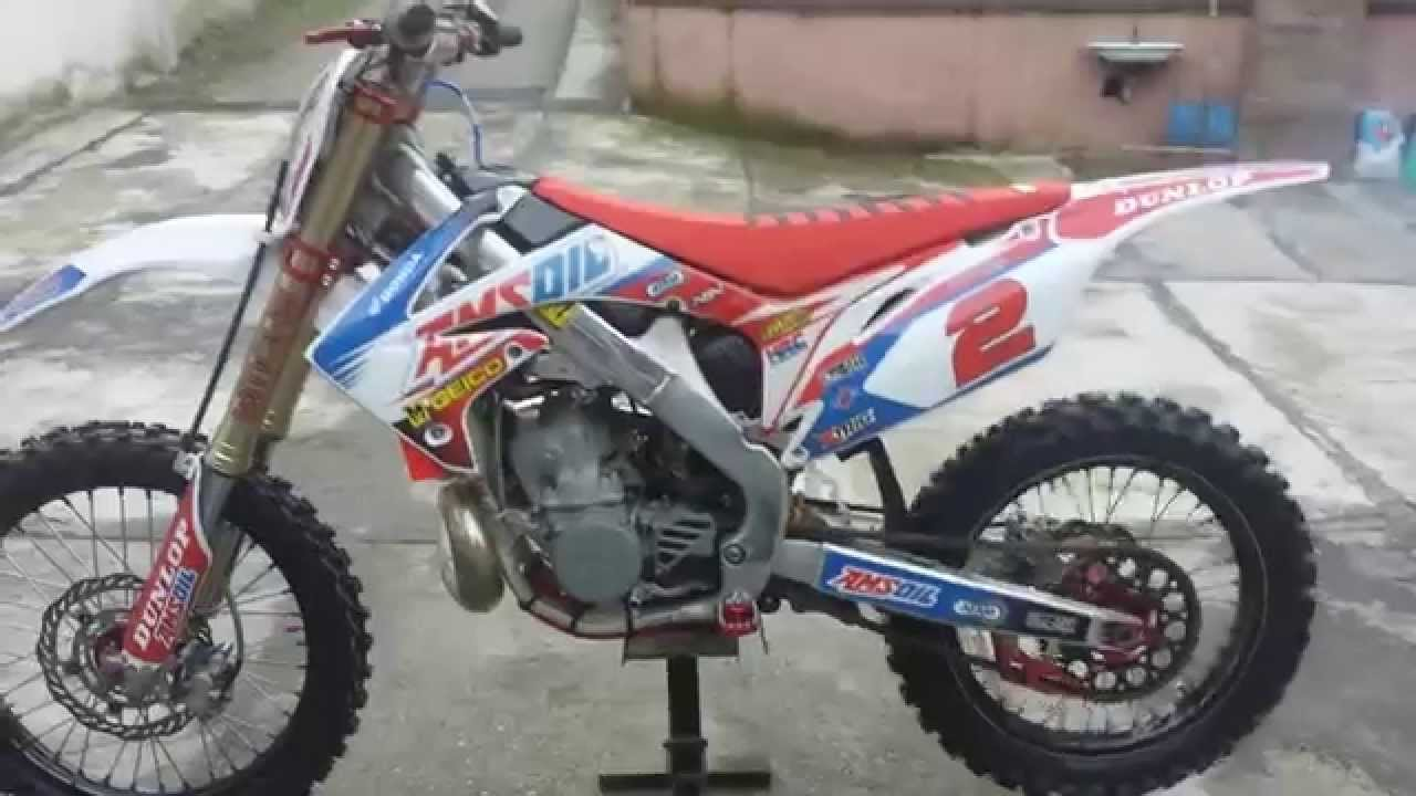 Honda service crf 250 af 2010 walk around engine sound - YouTube