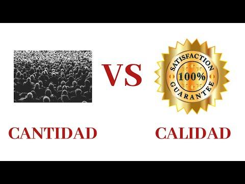 Mucha CANTIDAD vs poca CALIDAD