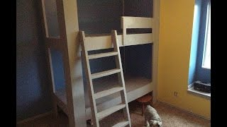 Kids Room. Built In Bunk Bed Part 2,  Ladder Edition.