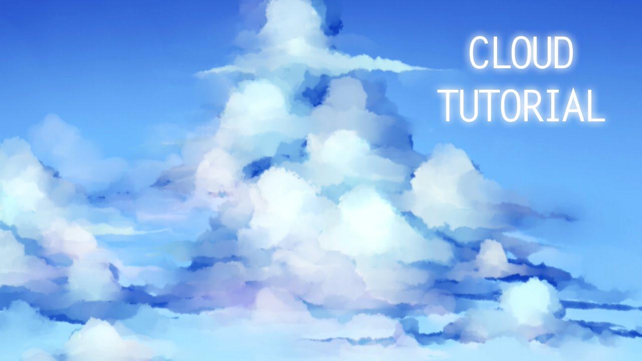 tutorial cloud painting process sai youtube