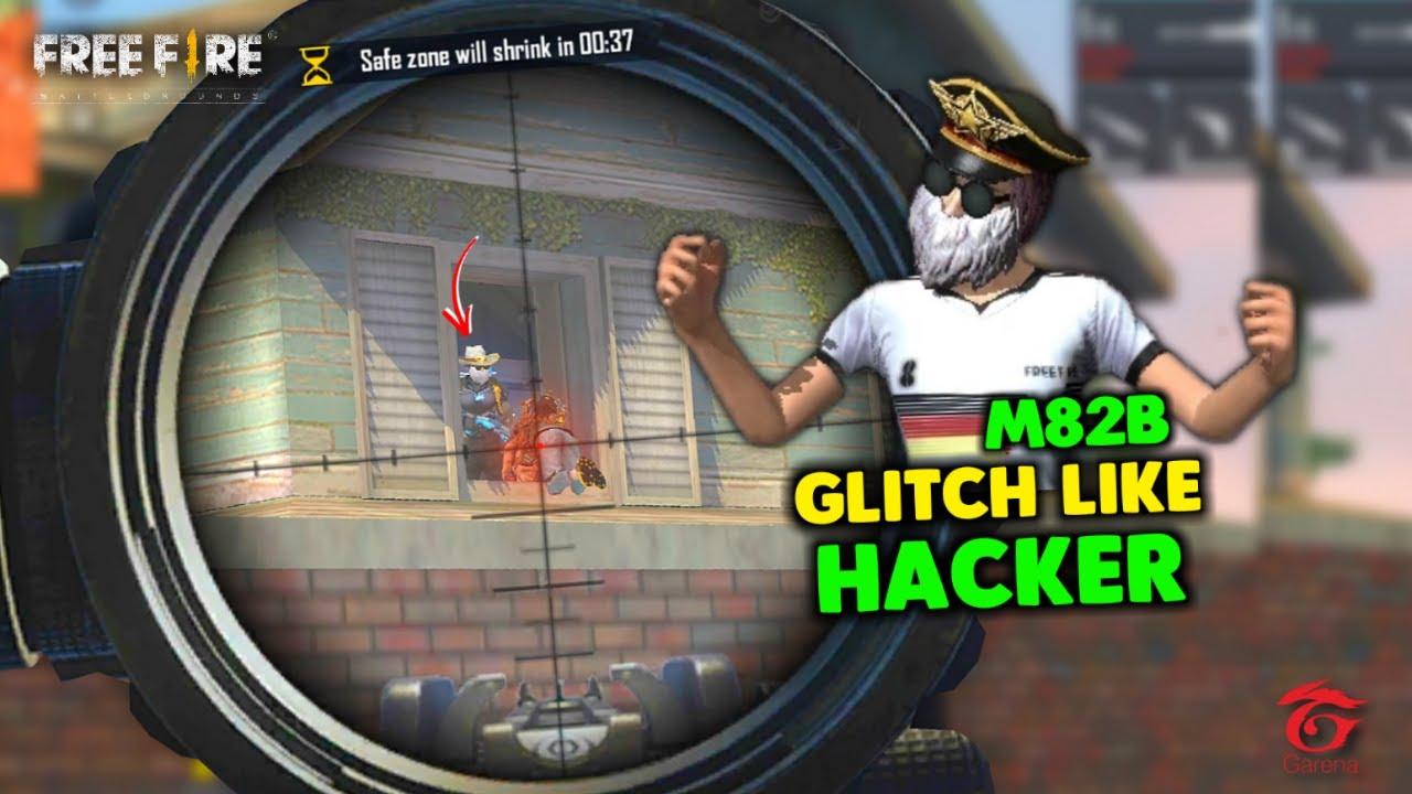 Adam M82B Glitch Like Hacker Solo vs Squad OverPower Gameplay - Garena Free Fire