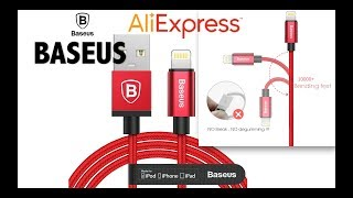 Baseus MFI USB Cable For iPhone X 8 5 6 7 Plus iPad iPod 2.4A Fast cable Unboxing Aliexpress