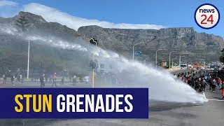 WATCH   Police use water cannon, fire stun grenades on CT protesters