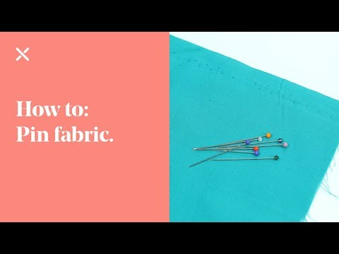 Sewing Tips: How To Pin Fabric