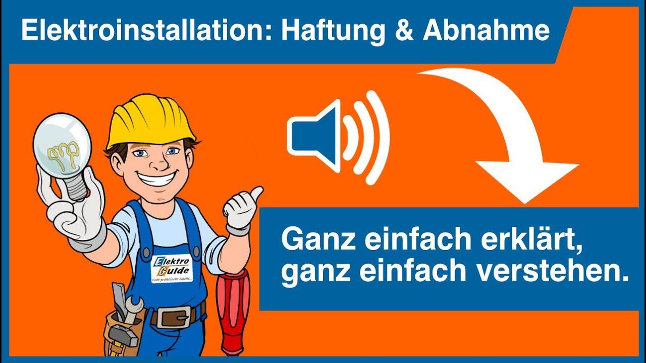 wer darf elektroinstallation in wohnhaus abnehmen