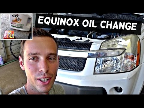 Chevrolet Equinox Oil Change | HOW TO CHANGE THE OIL ON CHEVROLET EQUINOX PONTIAC TORRENT