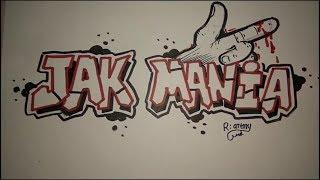 Cara Mengambar Grafiti Jak Mania