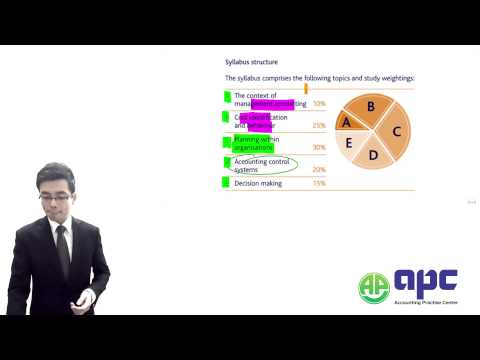CIMA C01 Fundamentals Of Management Accounting LECTURE APC