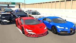 BeamNG.drive Supercar High Speed Police Chases #2 - (BeamNG Crash Compilation)