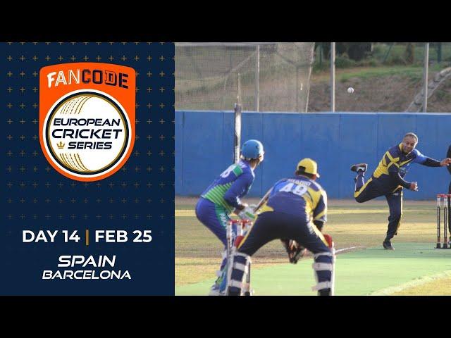 🔴 FanCode European Cricket Series Spain, Barcelona Day 14 | Cricket Live Stream