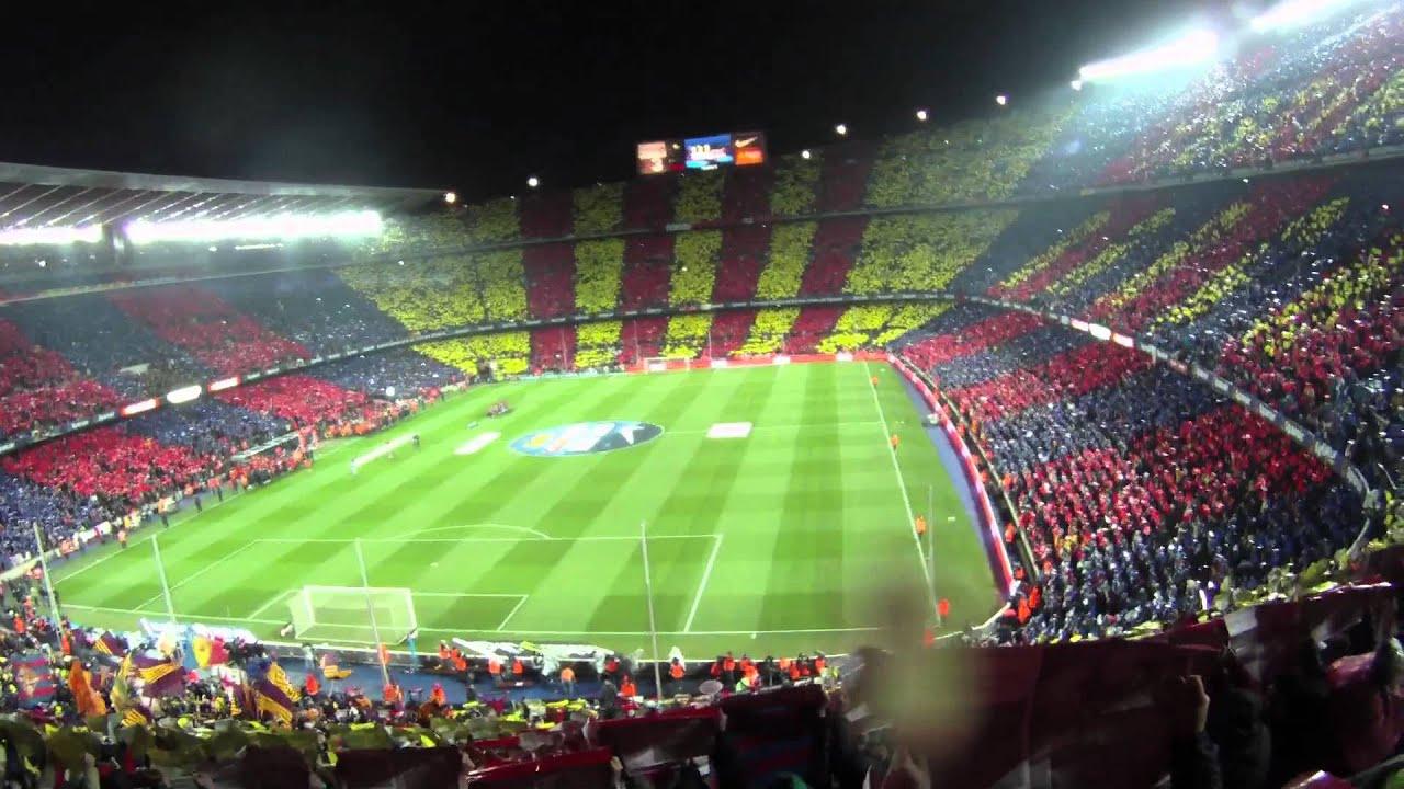 f c barcelona 5 0 real madrid c f mosaico himno On barcelona mosaico