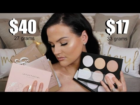 ABH GLOW KIT DUPE?!   NEW BH COSMETICS HIGHLIGHTER PALETTE REVIEW