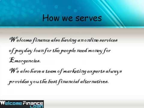 Payday Services form Welcome Finance