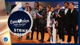 STRIKE A POSE: Eurovision Stars show their best poses on the orange carpet