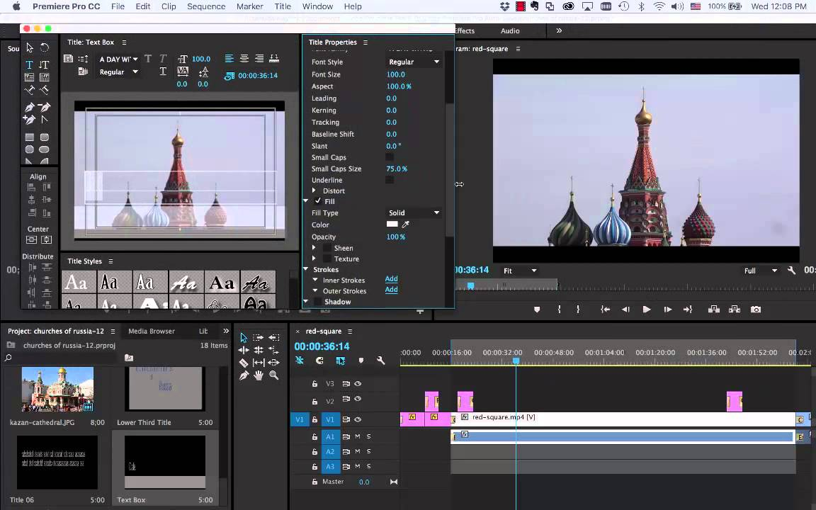 Adding text for subtitle narratives in adobe premiere cc 2015 youtube ccuart Image collections