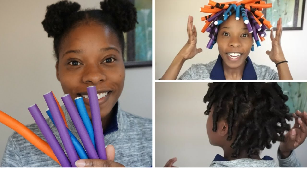 Quick Defined Flexi Rod Set Short Med Length Natural Hair Youtube